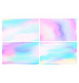 iridescent holographic foil fantasy pastels sky vector image