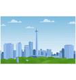 jakarta indonesia city skyline vector image vector image