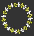 laurel wreath decorative frame isolated on black vector image
