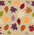 leaves seamless fall vector image vector image