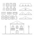 Lineart House Generator vector image vector image