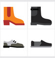 man shoes vector image vector image
