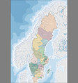 map of sweden vector image vector image