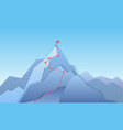 mountain climbing route to peak landscape vector image vector image