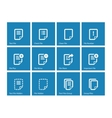 Notepad Document file and Note icons vector image vector image