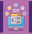 online advertising design vector image vector image