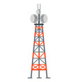 power station tower with cords and antenna vector image
