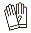 protective gloves icon vector image