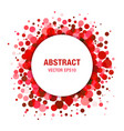 Red Bright Abstract Circle Frame Design Element vector image vector image