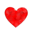 Red heart abstract vector image vector image