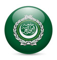 Round glossy icon of arab league vector image vector image