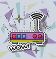 router wifi data technology patch sticker vector image