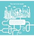 Schematic of a refinery producing natural gas vector image vector image