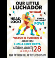 set of vintage lucha libre tickets lucha libre vector image