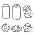 Set sketch aluminium can