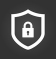 shield and lock icon cyber security concept vector image vector image