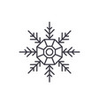 snowflake decoration line icon concept snowflake vector image vector image
