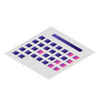 table calendar icon isometric style vector image