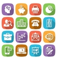Trendy flat business and finance icon set 1 vector image vector image