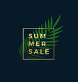 tropical summer sale banner fern palm leaf in a vector image vector image