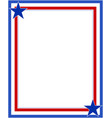 us abstract flag symbolic frame with stars vector image