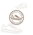 vintage retro sport shoe store badge emblem label vector image vector image