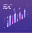 vivid design isometric chart vector image vector image