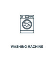 washing machine icon thin style design from vector image vector image