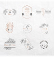 wedding monogram constructor invitation cards vector image vector image