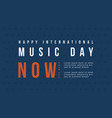 world music day banner flat vector image vector image