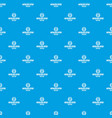 zombie terror pattern seamless blue vector image vector image