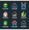 Set of house logo design template House logo vector image