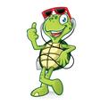 Turtle with Earphone vector image