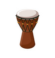 turkish traditional drum isolated over white vector image