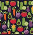 healthy food vegetables fresh seamless pattern vector image