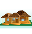 wooden house exterior vector image