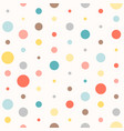seamless colourful polka dot pattern vector image