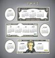 2017 Money calendar Blanks vector image vector image