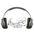a headphone on white background vector image