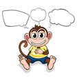 A worried monkey vector image vector image