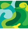 Abstract doodle green composition background vector image