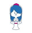 adorable bride lovely marriage cartoon vector image vector image