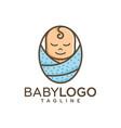 baby logo design stock vector image