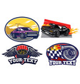 badge muscle car set vector image vector image