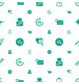 beat icons pattern seamless white background vector image vector image
