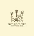 beauty line art coffee farm logo design idea can