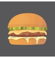 Burger cartoon fast food cheeseburger or vector image