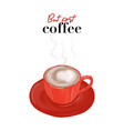 but first coffee sketch modern food vector image