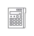 calculator line icon concept calculator vector image vector image