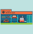 car service and repair center or garage vector image vector image